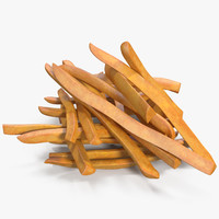 french fries 2 3D model