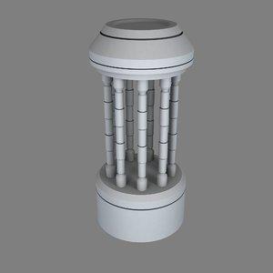 sci-fi exhaust e 3D model