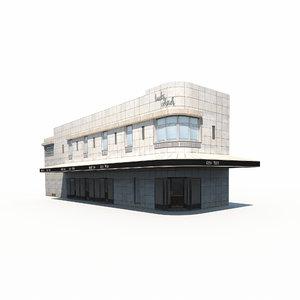 3D model dinner house building
