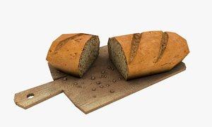 3D bread cutting board