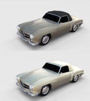 pack mercedes 190sl 3D model