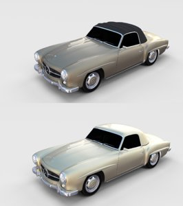pack mercedes 190sl 3D model