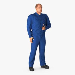 mechanic worker wearing blue model