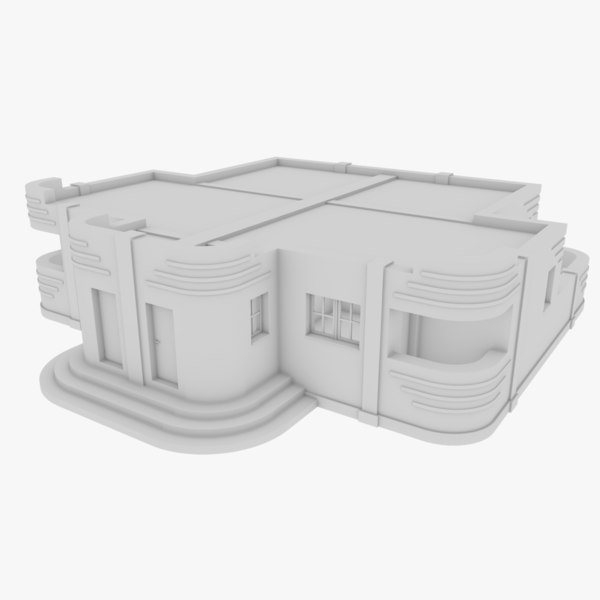 3D streamline moderne home interior model