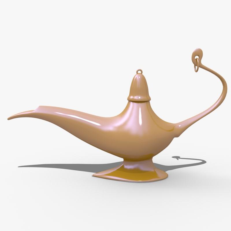 magic lamp 3D model