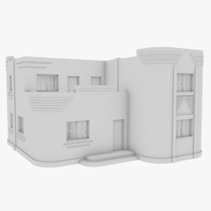 streamline moderne home interior 3D model