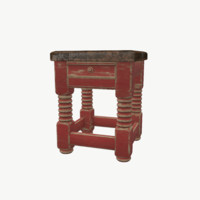old wooden chaire 3D model