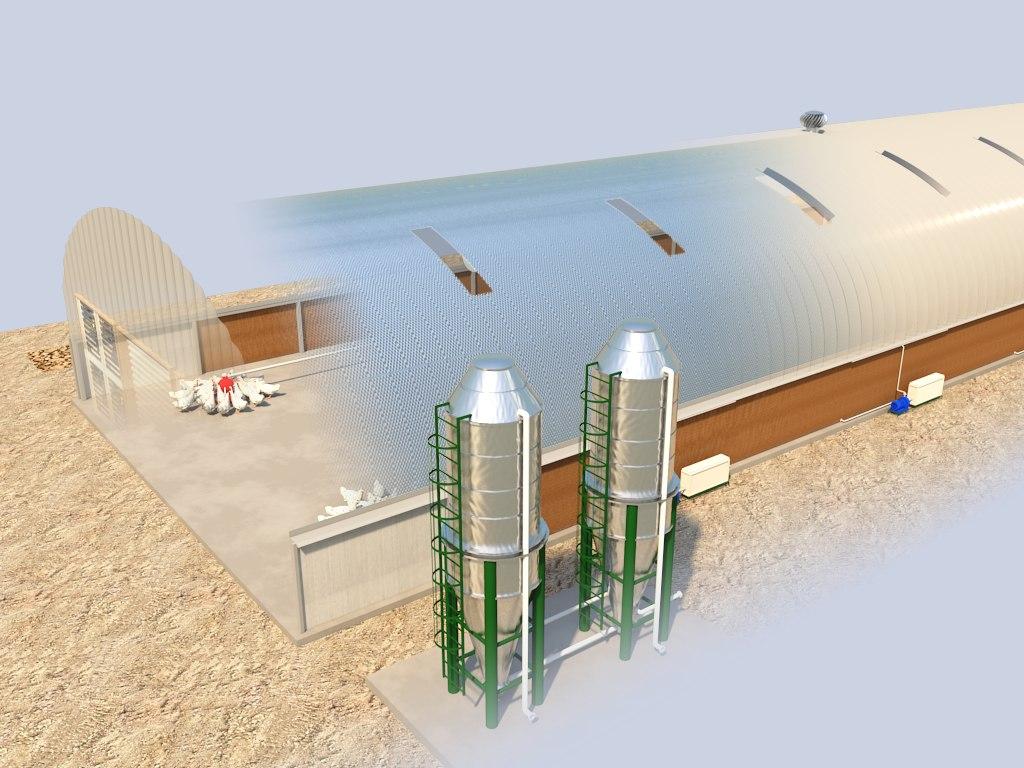 industrial poultry farm house model