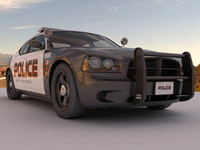 police car with HDRI environment