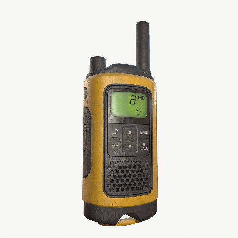 3D walkie talkie model