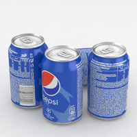3D model pepsi champions league 330ml