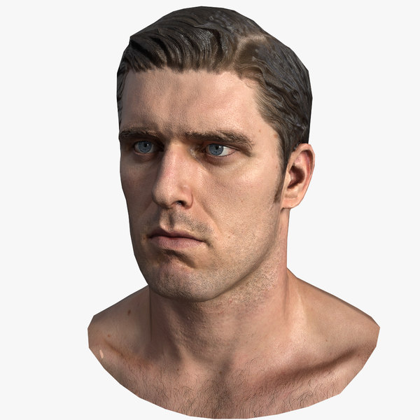 3D rigged head - model