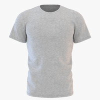 mens neck t-shirt 3D model