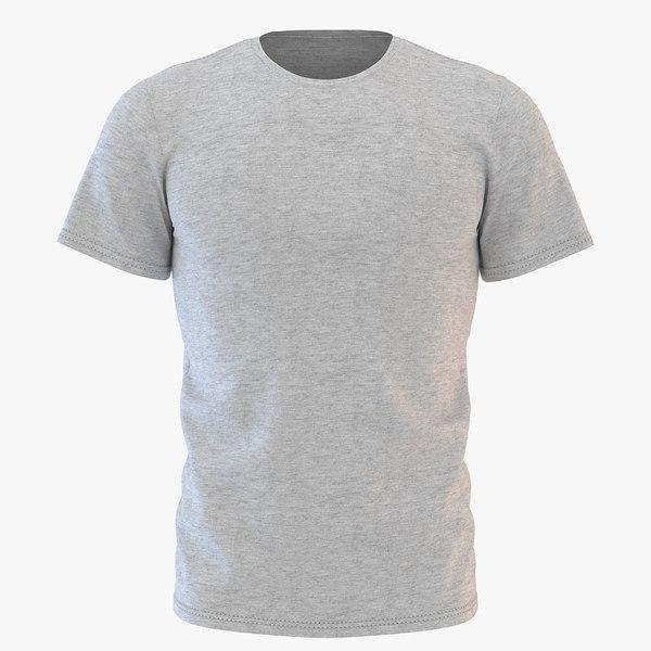 mens neck t-shirt 3D model