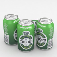 beer tuborg 3D