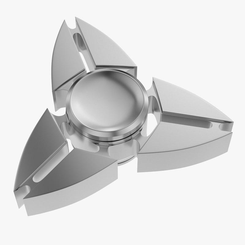 fidget spinner edc hand 3D model