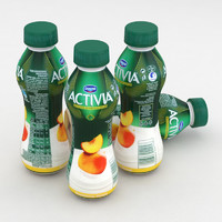 Dairy Bottle Danone Activia Peach Mango 300g