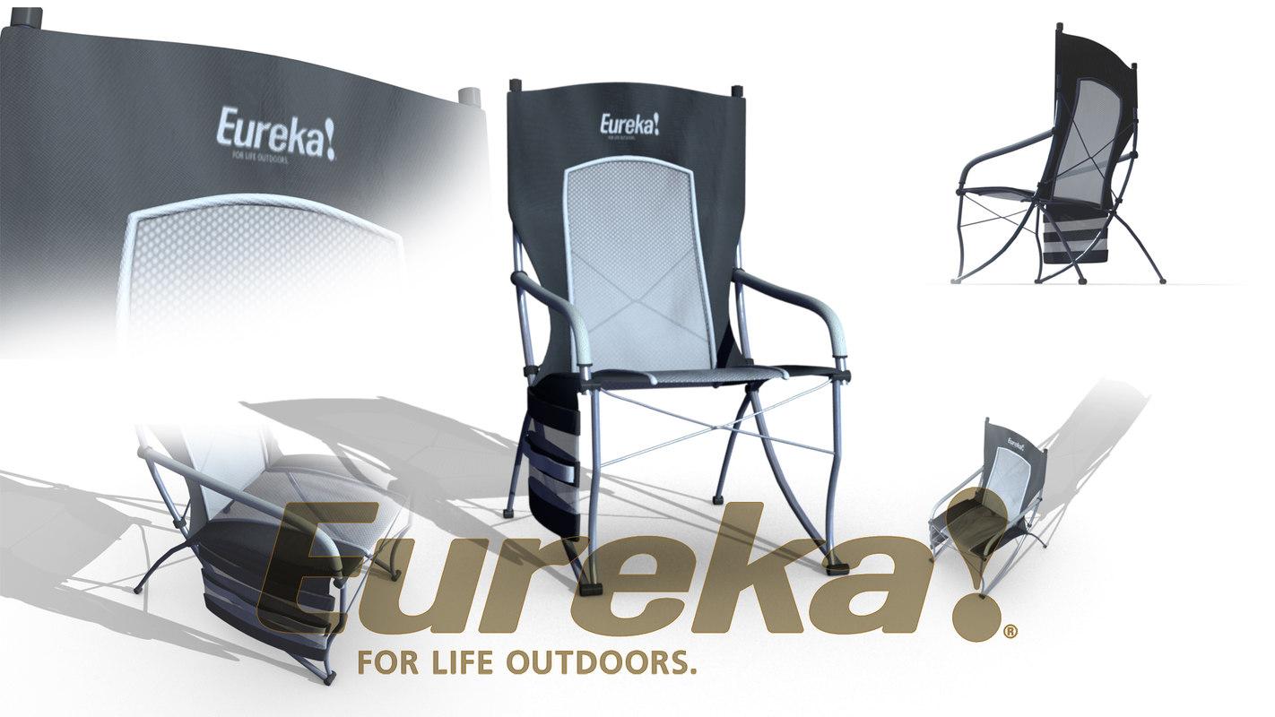 camping folding chair 3D model