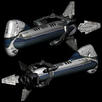 3D model colonial space cruiser