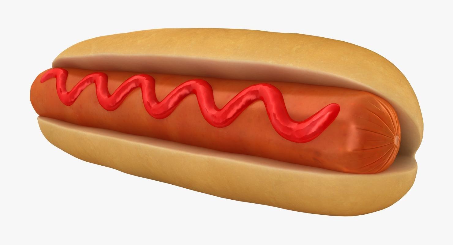 hot dog sauce 3D model