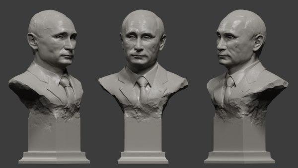 bust putin 3D model