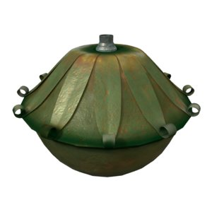 3D model modeled lamp