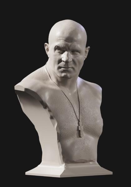 bust fedor emelianenko 3D model