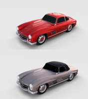 pack mercedes 300sl 3D model