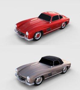 pack mercedes 300sl 3D model