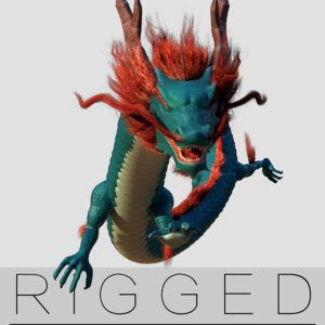 3D chinese dragon rigged fantasy