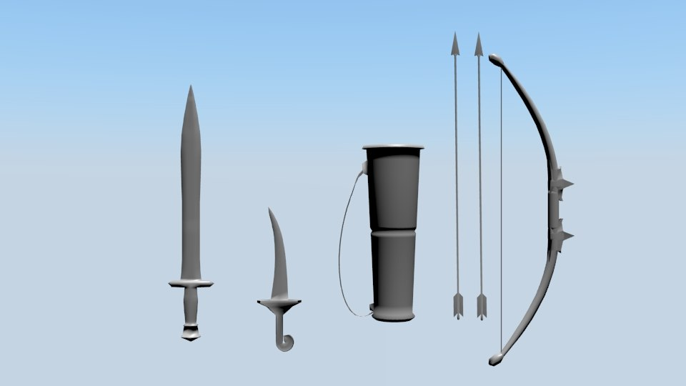 medieval weapons model