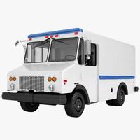 3D model mail truck