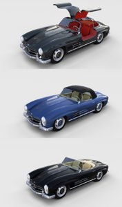 pack mercedes 300sl interiors 3D