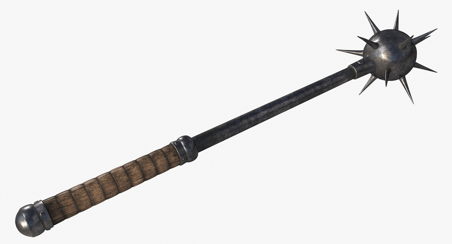 medieval morningstar mace 3D model