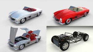 pack mercedes 300sl model