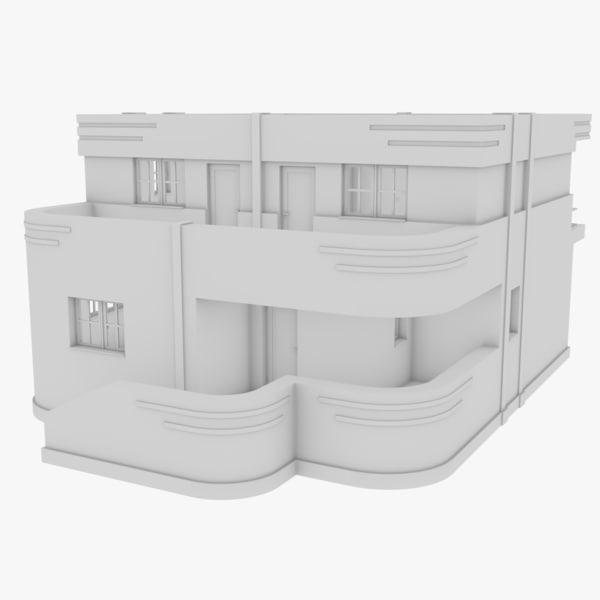3D streamline moderne home interior