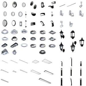 luminaire pack lighting 3D model