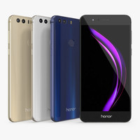 3D huawei honor 8 set model