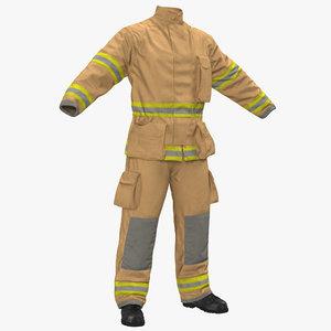 firefighter uniform 2 3D model