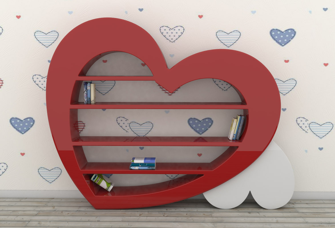 3D zaditaly - bookcase model