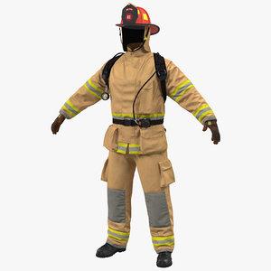 firefighter uniform 3D