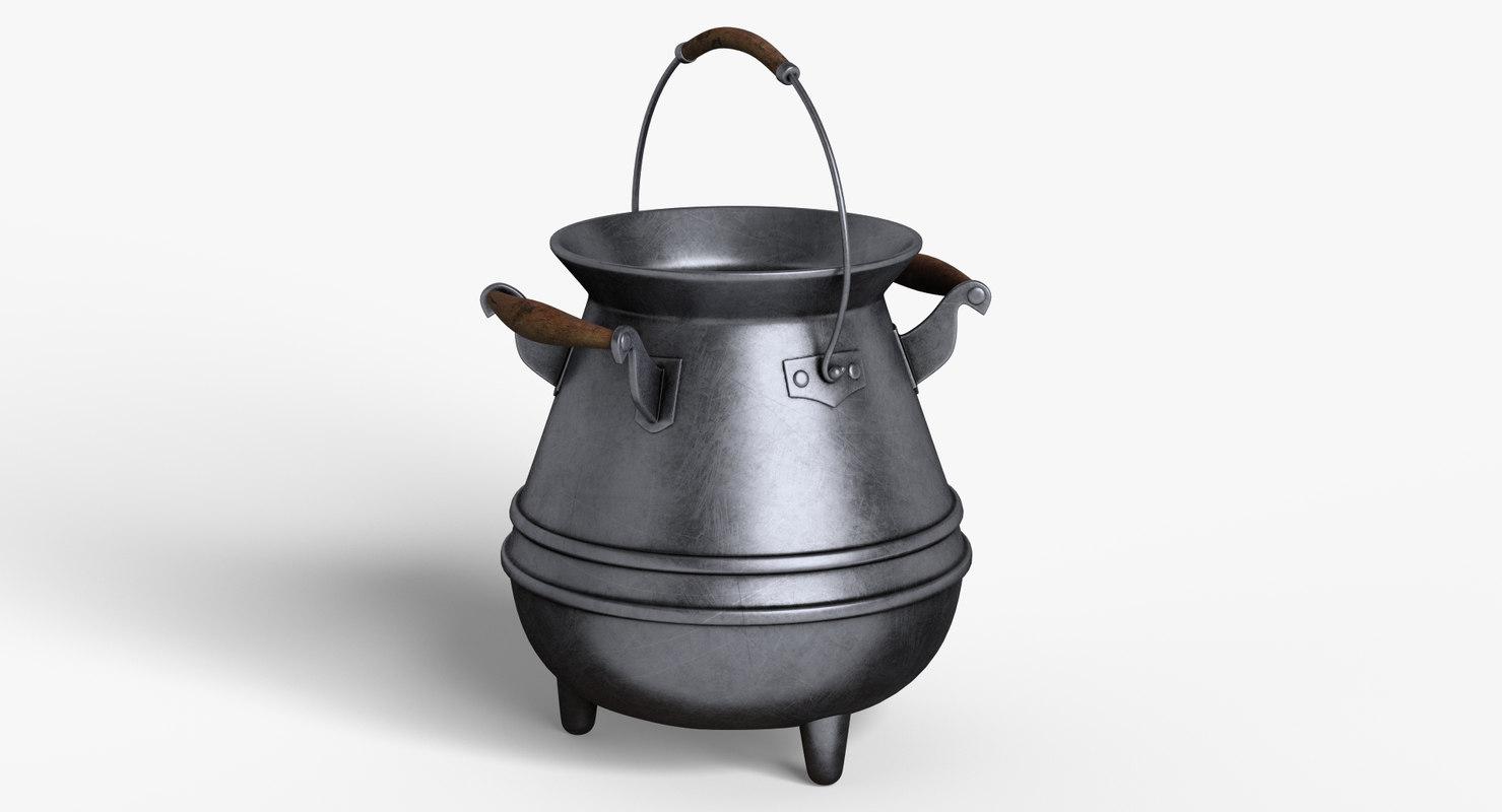 3D cartoon pot