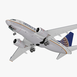 boeing 737-600 united airlines 3D model