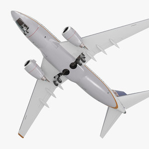 boeing 737-600 united airlines 3D