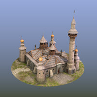 mosque ancient cathedral 3D model