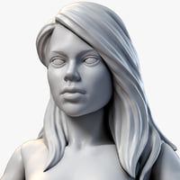 3D girl miniature zbrush