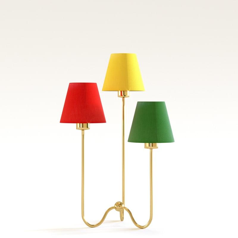 table lamp 2468 3D model