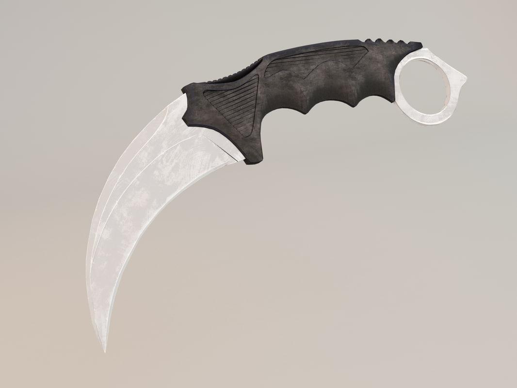 3D gameobject cs knife karambit