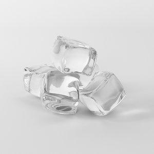 3D ice cubes model