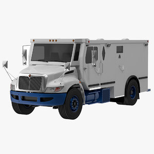 armored truck 3D